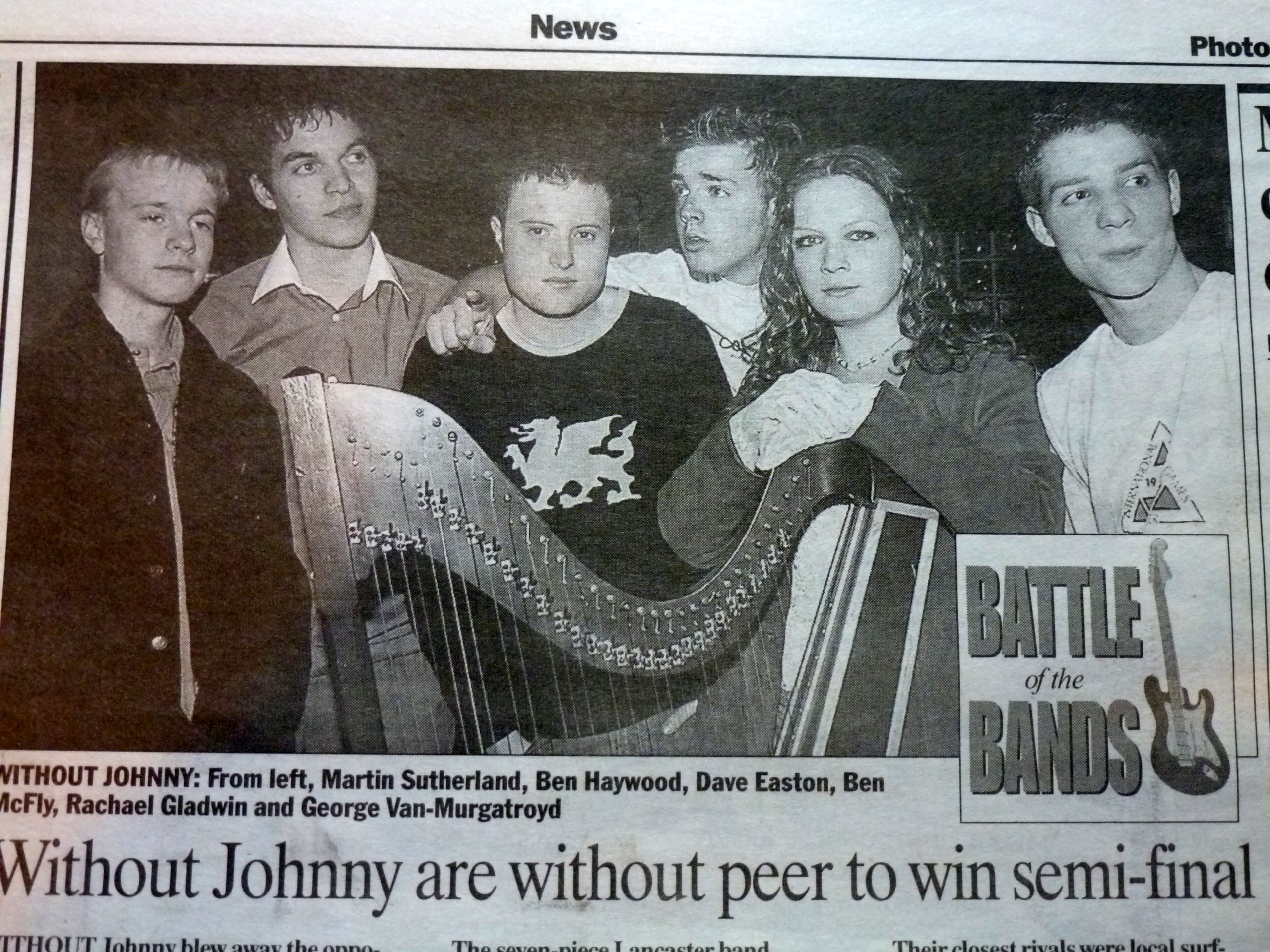 Without Johnny Newspaper Clip